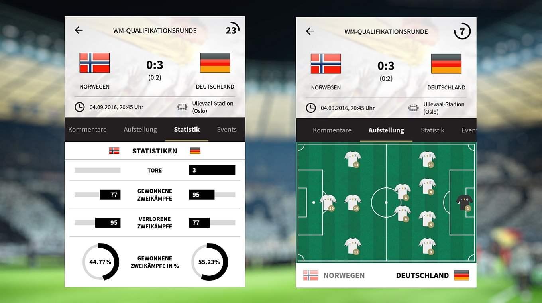 App Mit Dem Liveticker Stets Auf Ballhohe Dfb Deutscher